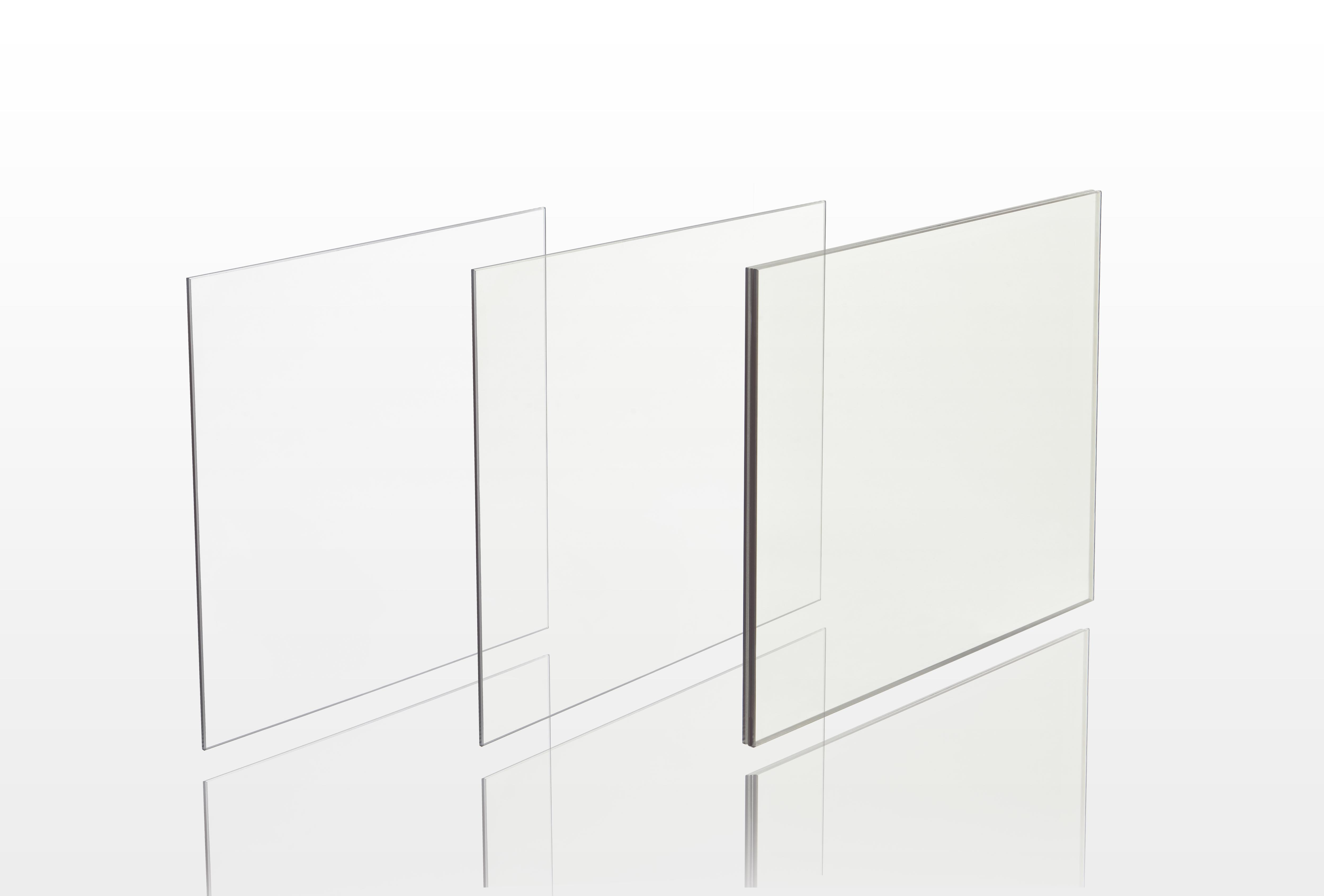 Fire-rated glass Schott PYRAN Platinum is available in monolithic, filmed and laminated versions